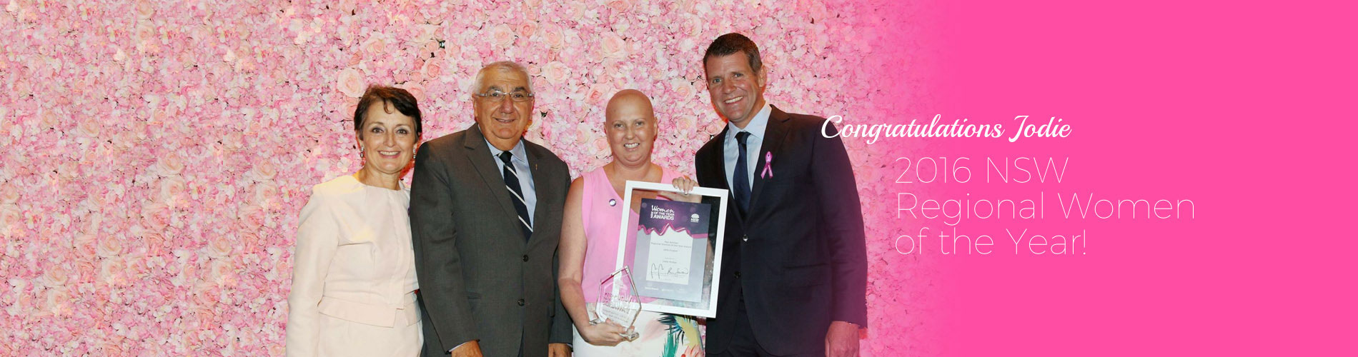 jodie mcrae woman of the year nsw